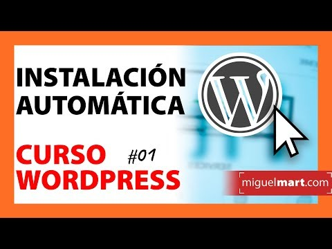 Curso WORDPRESS 01   Instalación automática en WebEmpresa