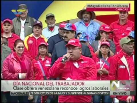 Discurso del Presidente Nicolás Maduro el Día del Trabajador, 1 mayo 2016
