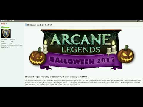 Arcane Legends Halloween Event Guide 2017
