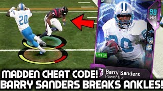BARRY SANDERS BREAKS PLAYER'S ANKLES! HE'S A CHEAT CODE! Madden 19 Ultimate Team