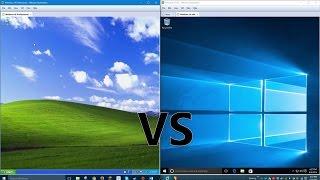 Comparing Windows 10 to Windows XP