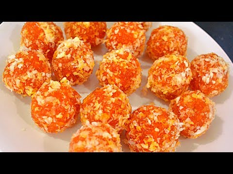 Delicious Coconut Carrot Ladoos | Quick Sweet Recipe
