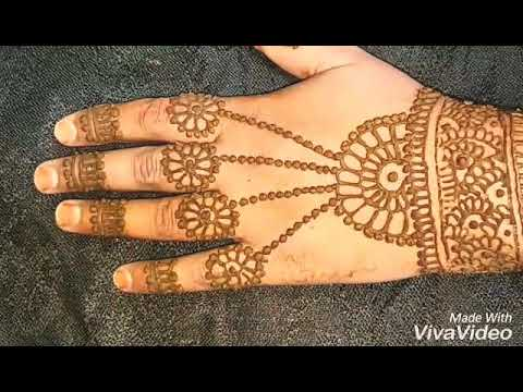 New latest jewellery style mehndi design for hand