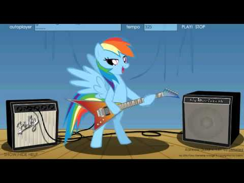 Nyan Cat And Rainbow Dash Rainbow Dash Guitar Nyan Cat