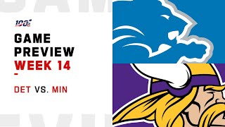 Detroit Lions vs Minnesota Vikings Week 14 NFL Game Preview
