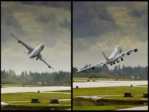 El inusual y peligroso despegue de despedida de un Boeing 747
