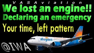 [REAL ATC] Allegiant GO AROUND + ENGINE FAILURE at Phoenix!