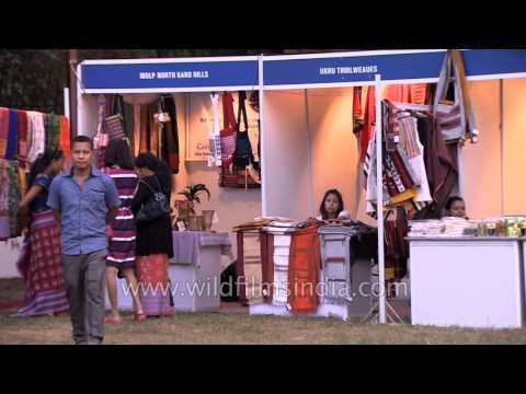 Handloom and handicrafts stalls - Northeast festival, Delhi