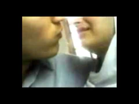 Muslim girl kissing a non Muslim boy.......