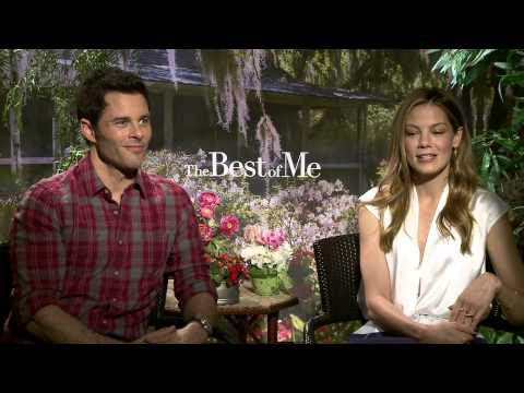 The Best of Me (2014) Exclusive James Marsden & Michelle Monaghan Interview [HD]