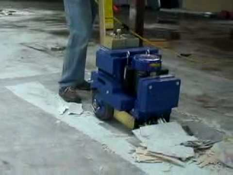 Walk Behind Floor Scrapers Vct Tile Removal Youtube