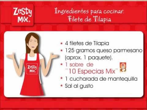 Marina con Zesty Mix: Filete de Tilapia.