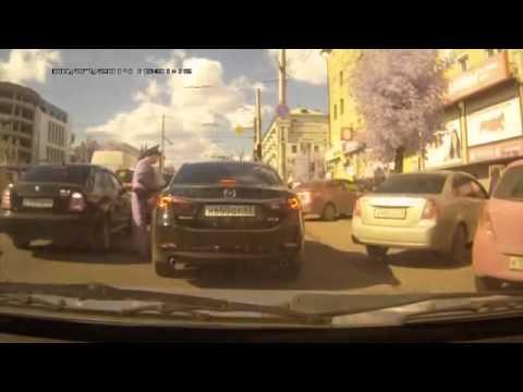 Погоня за пьяным водителем Мазды в Кирове