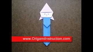Origami Instructions Origami Clown Bookmark
