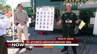 More than 20 arrested in Pinellas County undercover unlicensed contractor sting