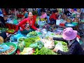 Phsar Chas or Old Market in Phnom Penh Cambodia