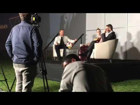 Ryan Gosling interviews Elle Fanning and the director Nicolas Winding Refn of Neon Demon