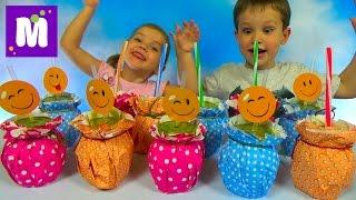Дринк Челлендж угадываем напитки что мы пьем и игрушки Миньоны и Шериф Кели Kid's Drink Challenge