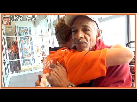 Homeless Bronco Fan Gets Day Full of Surprises! Featuring JStuStudios