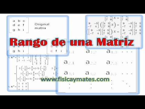 Cálculo matricial | Rango de una matriz