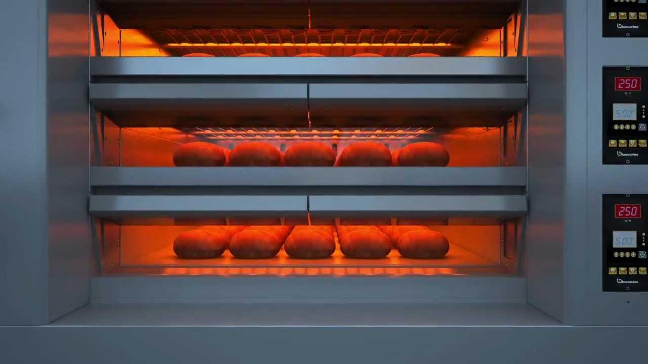 Forno industriale per pane