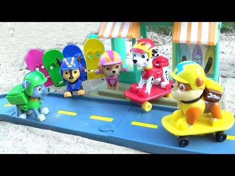 Щенячий Патруль - Щенки На Скейтах - Все серии. Paw Patrol Marshall's Beach Skate Shop.