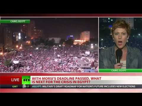 Egyptian army ousts President Morsi and suspends constitution