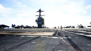 USS Ford LATEST FLIGHT OPERATIONS footage! (New Electromagnetic Aircraft Launch System IN ACTION!)
