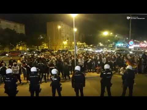 Ultras de izquierda en el acto de VOX en Murcia:
