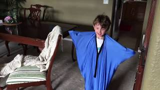 Liev's indoor obstacle course in a wing suit