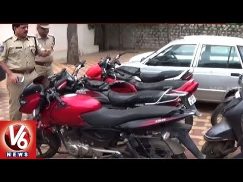 Hyderabad Police Arrests Vehicle Thief, Recovers 2 Cars And 7 Motor Bikes | V6 News
