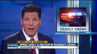 Victim ID'd in deadly Maserati crash