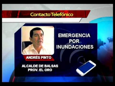 Cantón Balsas fue declarado en emergencia debido al desbordamiento del río