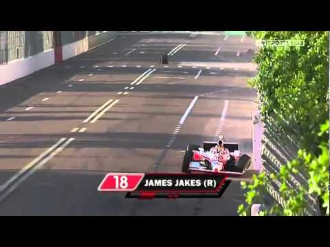 Indycar Sebastian Bourdais and Jakes Crash  Warmup St Petersburg 2011