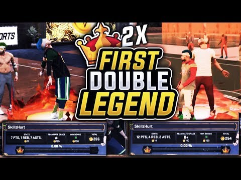 IM WORLDS FIRST DOUBLE LEGEND!  FIRST PERSON TO HIT LEGEND TWICE. LEGEND REACTION NBA 2K17
