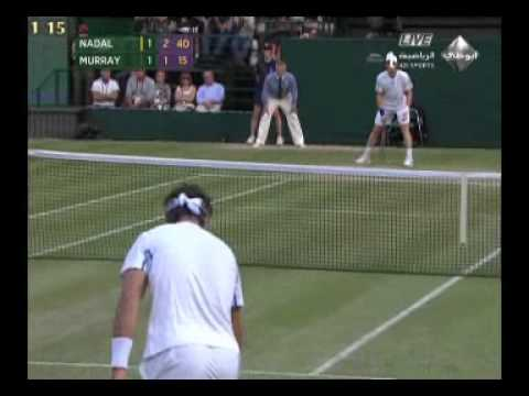 Rafael Nadal  & Andy Murray 2011 semi final . wimbledon