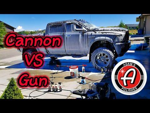 Adams Foam Gun vs Foam Cannon Comparison Review