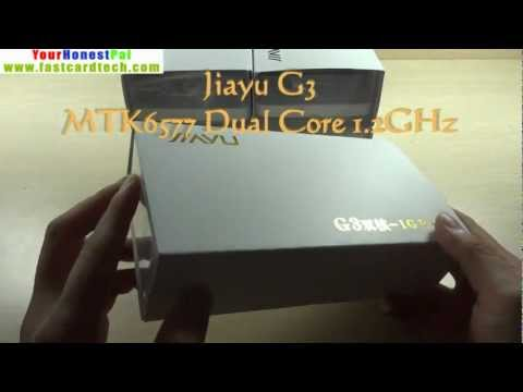 JiaYu G3 Dual core 1G RAM kick off Unboxing Hands On reviews