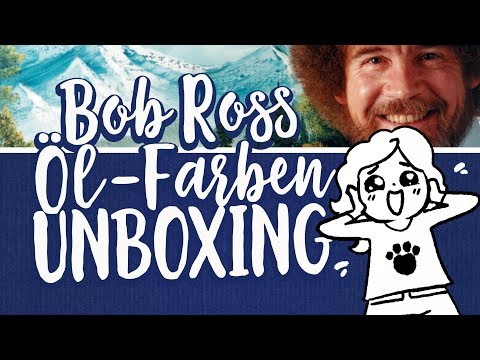 Bob Ross Öl-Farben UNBOXING + 😨 Happy Little Accidents