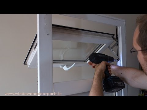How to replace the hinges on a uPVC window