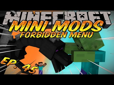Minecraft Mini Mods Ep 45 - Forbidden Menu Mod - Spawnable Ender Dragon and Giants!