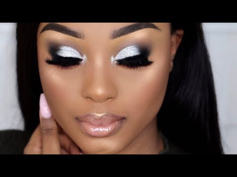 CLASSIC SILVER SMOKEY EYE   NIGHT OUT MAKEUP TUTORIAL   WOC