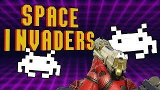 RETRO SPACE INVADERS | Halo 5 Custom Mini Game