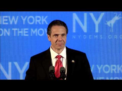 Governor Andrew Cuomo addresses the 2014 New York Democratic Convention