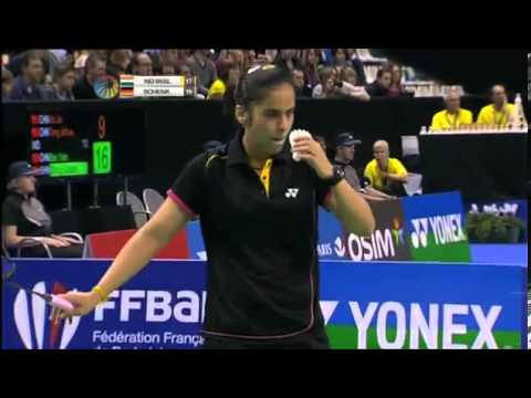 SF - WS - Saina Nehwal vs Juliane Schenk - 2012 Yonex French Badminton Open