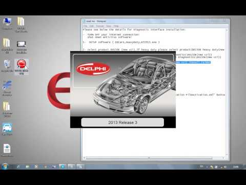 Delphi 2013 3 ds150e installation and activation