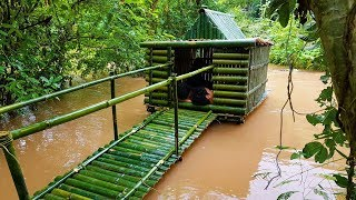 Building House On Water Using Bamboo And Mud - River House