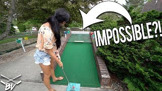 WIN A FREE GAME WITH A MINI GOLF HOLE IN ONE...BUT IS IT EVEN POSSIBLE?! | Brooks Holt