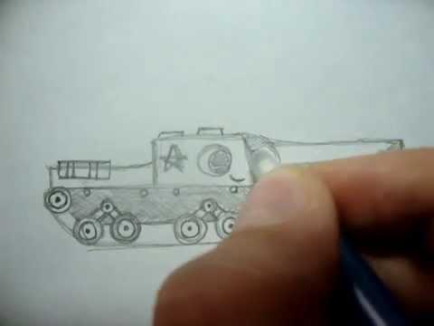 Видео как нарисовать танк ИСУ-152