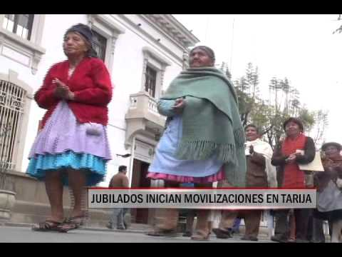 15/09/2014 - 13:05 JUBILADOS INICIAN MOVILIZACIONES EN TARIJA